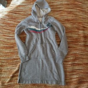 Old navy xl 12 14 hooded sweatshirt dress girls